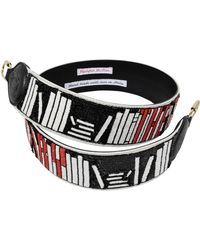 Olympia Le-Tan - The Body In The Library Bag Strap In Black Sequins And Leather - Lyst