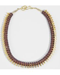 Aris Geldis - Choker Necklace In Amethysts And Gold Coated Brass Sequins - Lyst