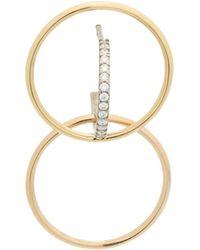 Xs Galilea Boucle D'oreille En Jaune, Rose Et Or Blanc 18k Et Diamants Charlotte Chesnais