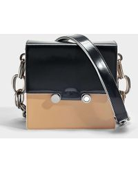 Marni - Show Square Bag In Navy Domesticated Calf - Lyst