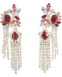 Exotica Neon Earrings in Multi Brass and Swarovski Crystals Shourouk xL5KG1SxNj
