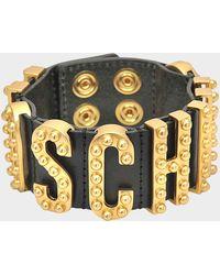 Moschino - Lettering Studded Bracelet - Lyst