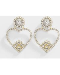 Shourouk - Renata Crystal Earrings In Gold Plated Brass And Crystals - Lyst