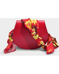 MM6 by Maison Martin Margiela - Scarf Small Bag In Red Synthetic Fabric - Lyst