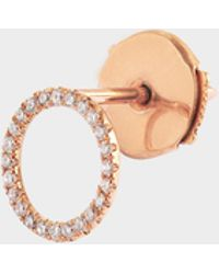 Vanrycke - Exclusive - Mono Earring I'm In Love 750‰ Gold And Diamonds - Lyst