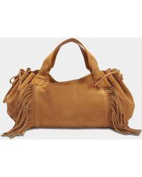 Gerard Darel - 24 Gd Fun Bag In Tan Leather - Lyst