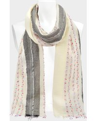 Zadig & Voltaire - Beads Shawl In Judo Wool And Synthetic Fabrics - Lyst