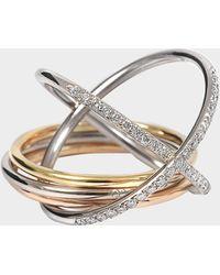 Charlotte Chesnais - XXO Ring aus gelbem rosanem und weißem 18K goldfarbenem und Diamanten - Lyst