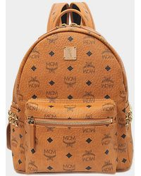 MCM - Dual Stark Small Visetos Faux-Leather Backpack  - Lyst