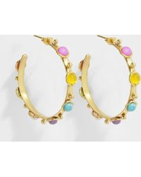 Sylvia Toledano - Petite Candy Earrings In Gold-plated Brass And Multicolored Stones - Lyst