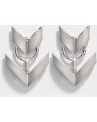 Roberto Cavalli - Aella Small Earrings In Silver - Lyst