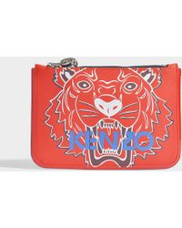 KENZO - Icon A5 Pouch In Red Synthetic Material - Lyst