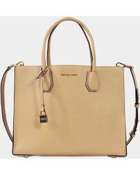 c80db7cdc6e8 Lyst - Michael Michael Kors Hyland Medium Convertible Tote Bag in Brown