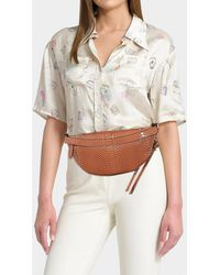 104ab4f3bc5c Stella McCartney - Alter Snake Small Bum Bag In Brown Synthetic Material -  Lyst