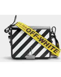 2512bd9e9ee6b Lyst - Off-White C O Virgil Abloh Diag Leather Shoulder Bag in Black