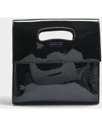 Helmut Lang - Mini Flap Bag In Black Patent Leather - Lyst