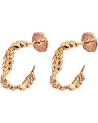 Aurelie Bidermann - Fine Jewellery - 18k Gold Mini Wheat Hoops - Lyst