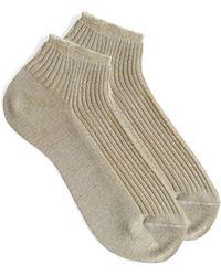 A.P.C. - Jess Socks In Beige Cotton - Lyst