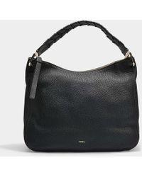 Furla - Rialto Large Hobo Bag In Onyx Calfskin - Lyst