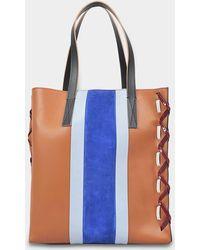 Marni - Museo Shopper Bag In Cinnamon Calfskin - Lyst