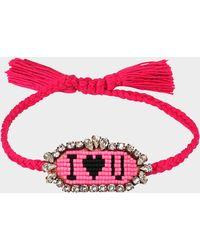 Shourouk - I Love You Bracelet - Lyst