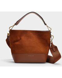 e1ccd27ddf47 Polo Ralph Lauren - Kleine Bucket Bag Sullivan Hobo aus braunem Nubuck und  Nappaleder - Lyst