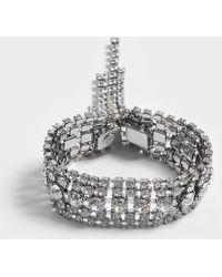 Helene Zubeldia - Crystals Cascade Open Bracelet - Lyst