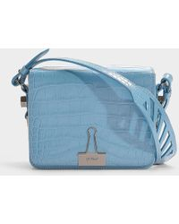 Off-White c/o Virgil Abloh - Cocco Flap Bag In Blue Calfskin - Lyst