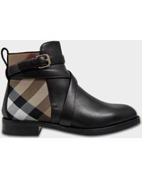 Burberry - Vaughn Flat Chelsea Boots In Black Calf Leather - Lyst