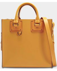 Sophie Hulme - Square Albion Tote Bag In Dark Butter Cowhide Leather - Lyst