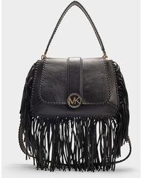 MICHAEL Michael Kors - Medium Leather Lillie Fringed Shoulder Bag - Lyst