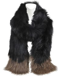 Yves Salomon - Knitted Scarf Fox And Groundhog - Lyst