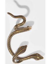 Roberto Cavalli - Snake Mono Earring In Golden Brass - Lyst