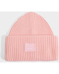 Acne Studios - Pansy N Face Beanie In Blush Pink Wool - Lyst