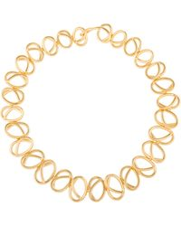 Joanna Laura Constantine | Gold Plated Knot Choker Necklace | Lyst