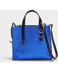 Marc Jacobs - The Mini Grind Metallic Bag In Blue Metallic Calfskin - Lyst