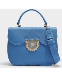 Furla - Ducale Small Top Handle Bag In Black Calfskin - Lyst