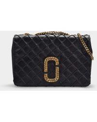 1969508fe073 Lyst - Marc Jacobs Trouble Leather Shoulder Bag in Black