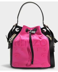 KENZO - Kombo Kanvas Bucket Bag In Fuchsia Polyester - Lyst