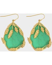 Aurelie Bidermann - Françoise Pendant Earrings In Turquoise And Gold Plated Brass - Lyst