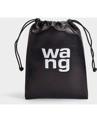 Alexander Wang - Ryan Mini Dust Bag In Black Smooth Lambskin With Logo - Lyst