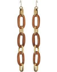 Aris Geldis - Long Wood Earrings - Lyst