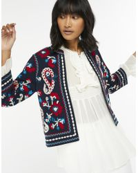 Monsoon - Tammy Pure Cotton Embellished Jacket - Lyst