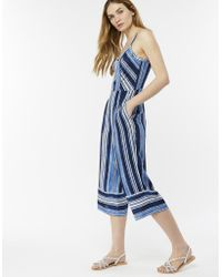 Monsoon - Layney Stripe Print Jumpsuit - Lyst