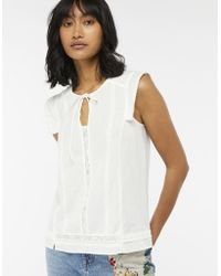Monsoon - Lucie Ladder Lace Linen Top - Lyst
