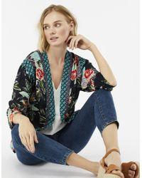 Monsoon - Rosaline Print Jacket - Lyst