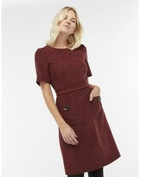 Monsoon - Bertie Wool Blend Tweed Dress - Lyst