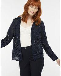 Monsoon - Blue 'jayda' Embellished Jacket - Lyst