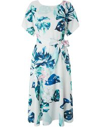 Monsoon - Arianna Print Midi Dress - Lyst
