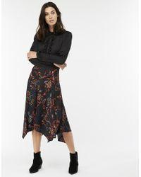 Monsoon - Akisa Printed Midi Skirt - Lyst